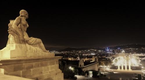 The view from Museu Nacional d'Art de Catalunya